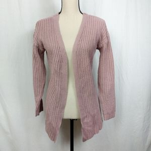 Pink Rose Open Criss Cross Knitted Cardigan M